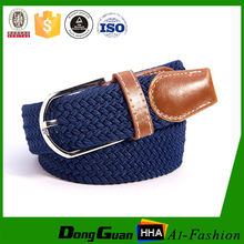 """2015 New Style Manufacturers 1"""" mens cotton elastic stretch belts with leather taps"""