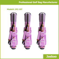 Designed Your Own Pink Golf Cart Bags With Shoulder Strap