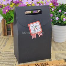 black paper gift bag