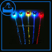 colorful led light hair braid optical fiber flashing hair braid for party gift
