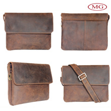 Handmade leather satchels with retro crazy horse cowhide wholesale from china factory