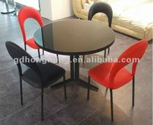 dining room glass table round table dining table set CT186+CY181