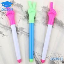Cheap funny plastic finger shape ball pen for promotion