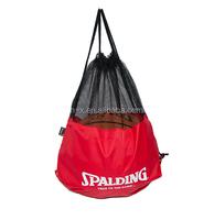 customized nylon mesh gym basketball bag basket backpack