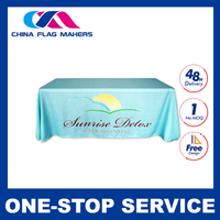 300D polyester custom prined table cloth
