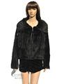 Cx-g-a-144c abrigo de piel con capucha kintted de visón abrigo de piel
