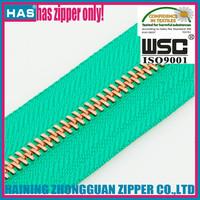 HAS zipper rose gold metal zipper rose teeth zip roll for sofa/luggage/bags