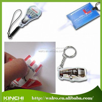 Factory price promotional led keychain PVC and metal led light keychain
