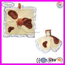 D293 Soft 0+ Baby Blankets Animal Head Plush Baby Blanket