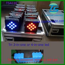 disco club decoration par led/9*3W RGB 3in1 tricolor LED Flat Par 20W Llight DMX /LED stage light