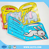 Custom coloring book and board child school book & animal touch child book