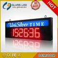 Reloj digital de leds rojos de alto brillo