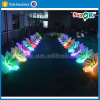 giant inflatable flower decoration inflatable flower chain for wedding decoration
