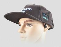 Bluetooth baseball cap with earphone listen music freely