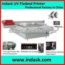 Indask High Speed UV Flatbed Printer with ricoh GEN5 Printhead with CMYK Color