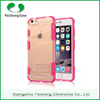 Hybrid heavy duty TPU PC mobile phone cover 2 in 1 dual layer combo case with kickstand case cover for Apple iphone 6