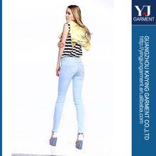 2014 azul de mezclilla harley casual pantalones para mujer pantalones vaqueros
