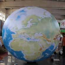 2M inflatable earth, inflatable globe, inflatable world map ball for sale