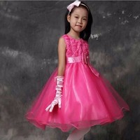 Wholesale children's boutique clothing Girls praty wear western Dresses In stock items