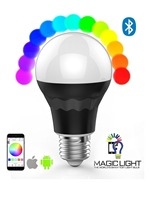 Timer+Group+Music+Disco+Camera+DIY Mode RGBW Led Bulb Support Android IOS Phone Smart LED Bulb 7.5W Dimmable Bluetooth LED Bulb
