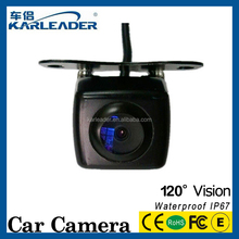 hot selling mini hidden mount design dual lens front/rear view camera for universal car