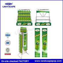 A full set metal supermarket equipment green color standee for Summer Drinks