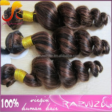 Mix color 1b/33 cheap wholesale high quality brazilian hair weave