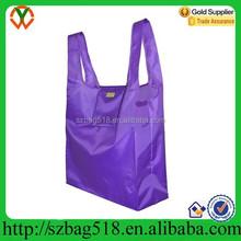 High Quality New Fashion Wholesale Reusable pouch nylon shopping bag
