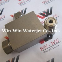 High Performance 3-way HP Stainless Steel Tee suit for kmt flow and all brand water jet cutting machines