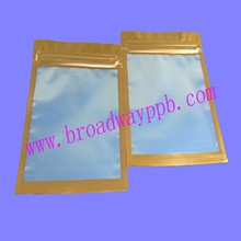 clear front silver back aluminum foil zip USB product plastic packing bags