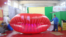 customized new design led giant inflatable mouth,mouth model for decoration