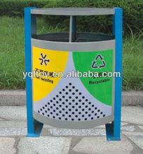 Public recycling bins in Outside