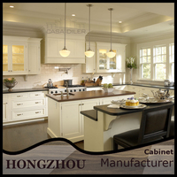 Ready Made Teak Wood Design Kitchen Cabinet Cupboards From China