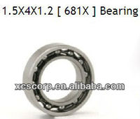 Small Bearing 681x 1.5x4x1.2mm Abec-1 to Abec-7 Radial Clearance,Small appliance bearing