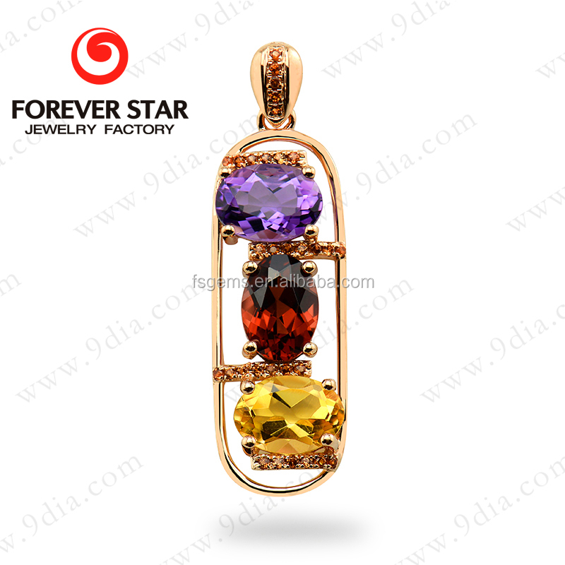 2015 new products hot sale natural color stone 14k gold for Wholesale 14k gold jewelry distributors