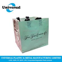Plastic Plate Printing Flexiloop handle bag for shopping mall