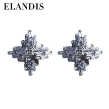 E-ELANDIS yiwu jewelry accessories wholesale graceful stud acrylic cross earring