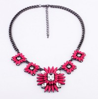 Yellow flower necklaces bohemia jewelry for summer rose flowers jewel