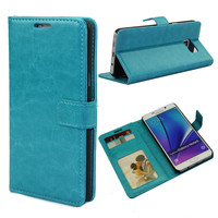 Durable PU Leather Wallet Case Flip Cover For Samsung Galaxy Note 5