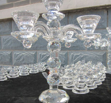 Latest Nice Crystal candle holder for wedding Favors