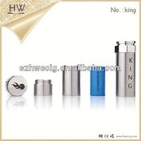 HW hot selling e-cig King mod ce rohs e cigarette mod chrome ecig lava tube lambo 4.0