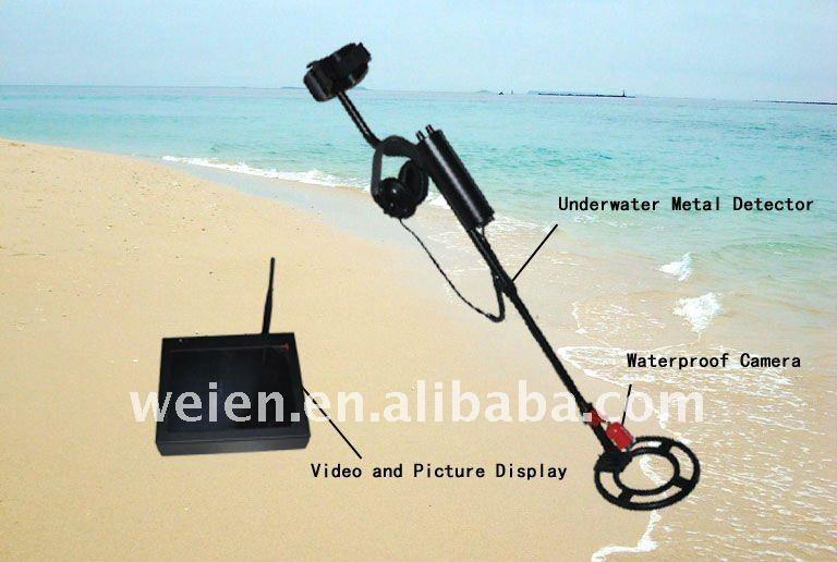 Vídeo subaquático detector de metais