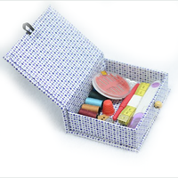 unique present sewing kit, girls sewing box, folding sewing box