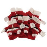 Pet Dog Sex Cothes Holiday Seasons Wholesale Pet Clothes Santa Costume Dog Clothes Bulk and Cap