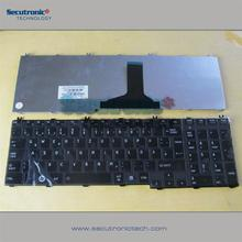 Hot selling Laptop keyboard for Toshiba Satellite C650 C660 L650 L655 L670 L675 L775 German Glossy black