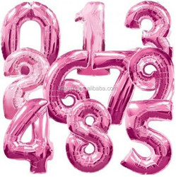 hot selling giant number foil balloons party decorations