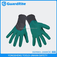 """GuardRite brand 10.5"""" green latex gloves with ce packed in carton in china"""