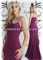 Hot Selling Burgundy Design One-Shoulder Backless Sexy Mermaid Evening Dresses OW033