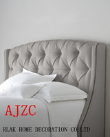 Your dreamed prince like linen fabric bed of popular European style for your warm and fragrant family design