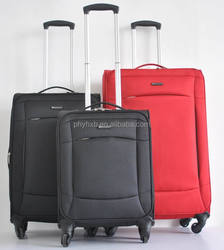 600D polyester soft luggage/ carryon with 4 wheels/trolleycase with expander/upright with half aluminium trolley system 20'24'28